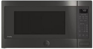 """PES7227BLTS GE 24"""" Profile Series 2.2 cu. ft. Counter Top Microwave with Control Lockout and Sensor Cook - Black Stainless Steel"""