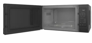 """PES7227DLBB GE 24"""" Profile Series 2.2 cu. ft. Countertop Microwave with Control Lockout and Sensor Cook - Black"""