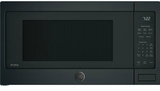 """PES7227FMDS GE 24"""" Profile Series 2.2 cu. ft. Countertop Microwave with Control Lockout and Sensor Cook - Black Slate"""