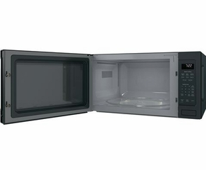 "PES7227FMDS GE 24"" Profile Series 2.2 cu. ft. Countertop Microwave with Control Lockout and Sensor Cook - Black Slate"