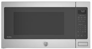 "PES7227SLSS GE 24"" Profile Series 2.2 cu. ft. Countertop Microwave with Control Lockout and Sensor Cook - Stainless Steel"