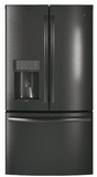 "PFE28KBLTS GE Profile 36"" 27.8 Cu. Ft. French Door Refrigerator with 4 Adjustable Glass Shelves and 6 Door Bins - Black Stainless Steel"