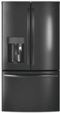 "PFE28PBLTS GE Profile 36"" 27.8 Cu. Ft. French Door Refrigerator with 4 Adjustable Glass Shelves and Drop Down Tray - Black Stainless Steel"