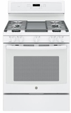 """PGB911DEJWW GE Profile Series 30"""" Free-Standing Gas Convection Range with Edge-to-edge Cooktop - White"""