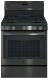 """PGB911FEJDS GE Profile Series 30"""" Free-Standing Gas Convection Range with Edge-to-edge Cooktop - Black Slate"""