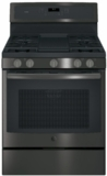"PGB911FEJDS GE Profile Series 30"" Free-Standing Gas Convection Range with Edge-to-edge Cooktop - Black Slate"