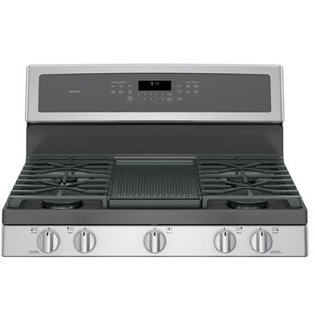 """PGB911SEJSS GE Profile Series 30"""" Free-Standing Gas Convection Range with Edge-to-edge Cooktop - Stainless Steel"""