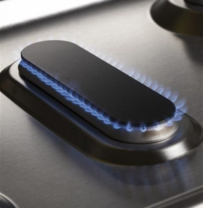 """PGB911ZEJSS GE Profile Series 30"""" Free-Standing Gas Convection Range with Edge-to-edge Cooktop - Stainless Steel"""