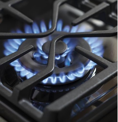 """PGB930SEJSS GE Profile Series 30"""" Free-Standing Gas Convection Range with Dual Purpose Center Burner - Stainless Steel"""