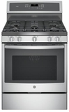 "PGB930SEJSS GE Profile Series 30"" Free-Standing Gas Convection Range with Dual Purpose Center Burner - Stainless Steel"