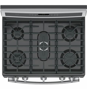 """PGB940SEJSS GE Profile Series 30"""" Free-Standing Gas Convection Range with Warming Drawer - Stainless Steel"""