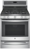 "PGB940SEJSS GE Profile Series 30"" Free-Standing Gas Convection Range with Warming Drawer - Stainless Steel"