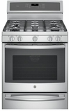 "PGB940ZEJSS GE Profile Series 30"" Free-Standing Gas Convection Range with Warming Drawer - Stainless Steel"