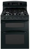 "PGB995DETBB GE 30"" Profile Series Freestanding Gas Range with Self-Clean and Convection Oven - Black"