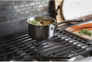 """PGP7036SLSS GE Profile 36"""" Natural Gas Cooktop with Precise Simmer Burner and Sealed Cooktop Burner - Stainless Steel"""