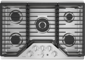 "PGP9030SLSS GE Profile Series 30"" Built-In Gas Cooktop with Precise Simmer Burner and Sealed Cooktop Burners - Stainless Steel"