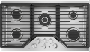 """PGP9036SLSS GE Profile Series 36"""" Built-In Gas Cooktop with Precise Simmer Burner and Sealed Cooktop Burners - Stainless Steel"""
