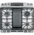 "PGS950SEFSS GE Profile Series 30"" Slide-In Double Oven Gas Range with 20,000 BTU Tri-Ring Burner - Stainless Steel"