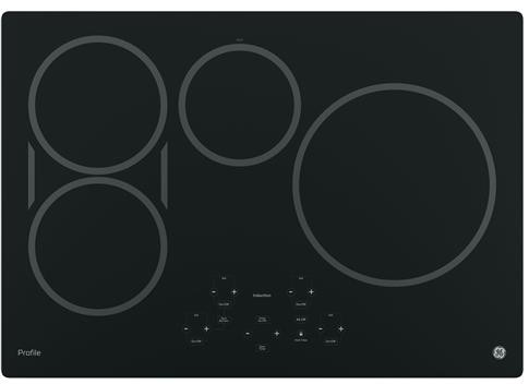 "PHP9030DJBB GE Profile Series 30"" Built-In Touch Control Induction Cooktop with 4 Induction Elements - Black"