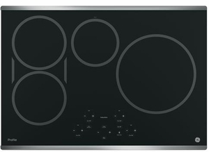 "PHP9030SJSS GE Profile Series 30"" Built-In Touch Control Induction Cooktop with 4 Induction Elements - Black with Stainless Steel Trim"
