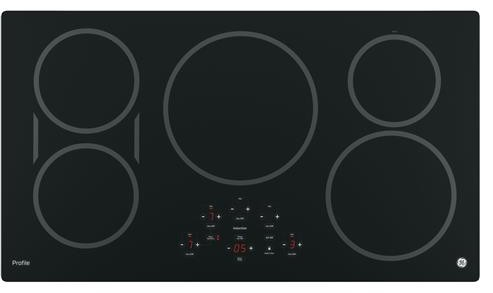 "PHP9036DJBB GE Profile Series 36"" Built-In Touch Control Induction Cooktop with 5 Induction Elements - Black"