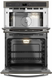 """PK7800EKES GE Profile 27"""" Built-in Combination Double Wall Oven/Microwave with Steam Self-clean option and True European Convection - Slate"""
