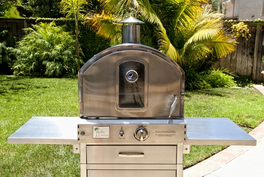 Ordinaire PL8430SSBG070 Pacific Living Outdoor Pizza Oven With Cart   Stainless Steel