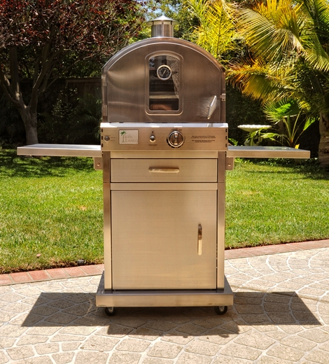 Charmant PL8430SSBG070 Pacific Living Outdoor Pizza Oven With Cart   Stainless Steel
