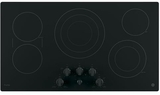"""PP7036DJBB GE Profile Series 36"""" Built-In Knob Control Cooktop with Five Cooking Elements - Black"""
