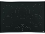 """PP9030SJSS GE Profile Series 30"""" Built-In Touch Control Electric Cooktop - Stainless Steel"""