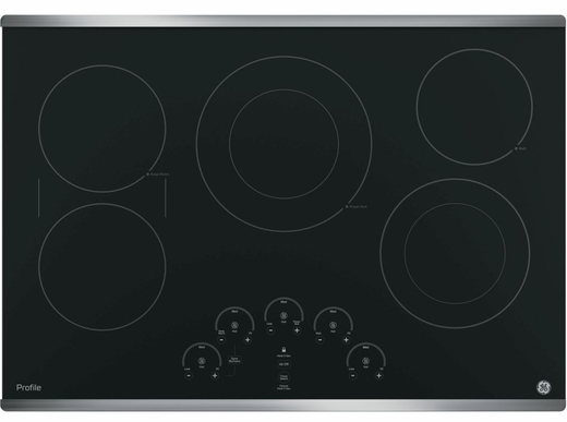 "PP9030SJSS GE Profile Series 30"" Built-In Touch Control Electric Cooktop - Stainless Steel"