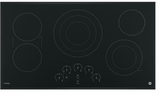 """PP9036DJBB GE Profile Series 36"""" Built-In Touch Control Cooktop with Glide Touch Controls - Black"""