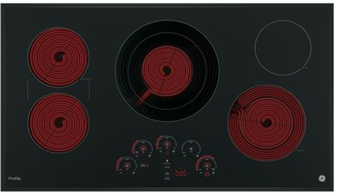"PP9036DJBB GE Profile Series 36"" Built-In Touch Control Cooktop with Glide Touch Controls - Black"