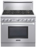 "PRD366GHU Thermador 36"" Pro Harmony Dual Fuel Pro Style Range with 6 Burners - Stainless Steel"