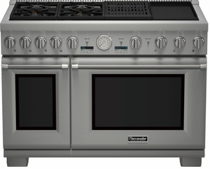 """PRD484NCGU Thermador 48"""" Professional Series Pro Grand Commercial Depth Steam Range with Grill & Griddle - Stainless Steel"""