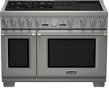 "PRD484NCGU Thermador 48"" Professional Series Pro Grand Commercial Depth Steam Range with Grill & Griddle - Stainless Steel"