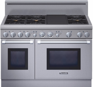 Prg486gdh Thermador Pro Harmony 24 Depth All Natural Gas Range With 6 Burners And Griddle Stainless Steel