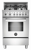 "PRO244GASX01 Bertazzoni Professional Series 24"" All Gas Range - Stainless Steel"