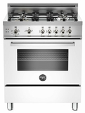 "PRO304GASBI01 Bertazzoni Professional Series 30"" All Gas Range - White"