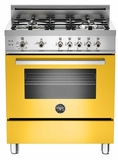"PRO304GASGI01 Bertazzoni Professional Series 30"" All Gas Range - Yellow"