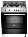 "PRO304GASNE01 Bertazzoni Professional Series 30"" All Gas Range - Black"