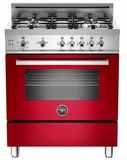 "PRO304GASRO01 Bertazzoni Professional Series 30"" All Gas Range - Red"