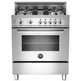 "PRO304GASX Bertazzoni Professional Series 30"" All Gas Range - Stainless Steel - OPEN BOX"