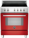 "PRO304INSRO Bertazzoni 30"" Freestanding Electric Range with 4 Induction Burners European Convection Cooking - Red"