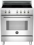 """PRO304INSX Bertazzoni 30"""" Freestanding Electric Range with 4 Induction Burners European Convection Cooking - Stainless Steel"""