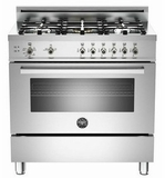 "PRO365GASX01 Bertazzoni Professional Series 36"" All Gas Range - 5 Burners - Stainless Steel"