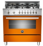 "PRO366GASAR01 Bertazzoni Professional Series 36"" All Gas Range - 6 Burners - Orange"
