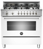 "PRO366GASBI01 Bertazzoni Professional Series 36"" All Gas Range - 6 Burners - White"