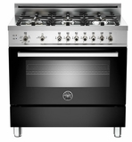 "PRO366GASNE01 Bertazzoni Professional Series 36"" All Gas Range - 6 Burners - Black"