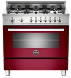"PRO366GASVI01 Bertazzoni Professional Series 36"" All Gas Range - 6 Burners - Wine"